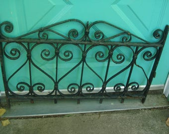 SALE over 50% OFF NOW antique ornate iron gate  iron  window guard  garden fence