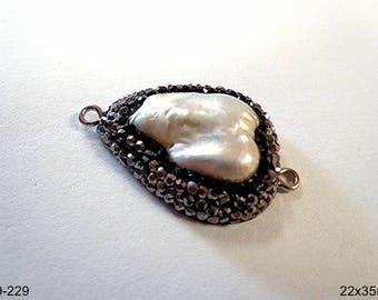 Beautiful Natural Fresh Water Pearl Connector/Pendant/earring/bracelet!!!