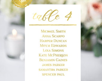 Gold wedding, table numbers, wedding tables, custom table numbers, table numbers with names, seating chart, wedding decor, gold table number