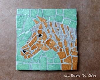 "Mosaic ""Chestnut horse"""