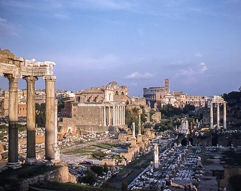 Giclée Art Print Vintage Color Photo Roman Forum Ruins * 1950's * Kodachrome #rome #italy FREE SHIPPING within the USA