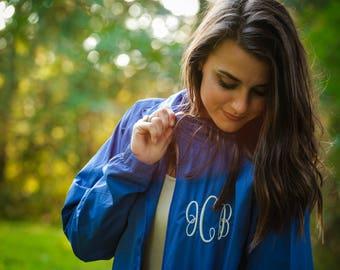 monogrammed rain jacket monogrammed rain coat rain jacket  rain coat