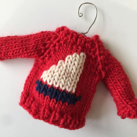 Knitting PATTERN / Mini Sweater Ornament / Christmas Decor / Red / Quick Knit...