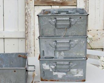 Industrial Storage, Garden Planters, Industrial Decor, Metal Storage, Galvanized Storage, Industrial, Vintage Storage, Repurposed Drawers