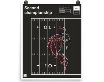Clemson Football Poster: Second championship (2017)