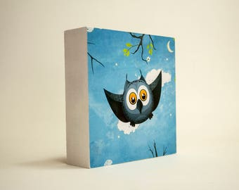 Happy Owl DecoFrame. Wall Art Anyday Gift