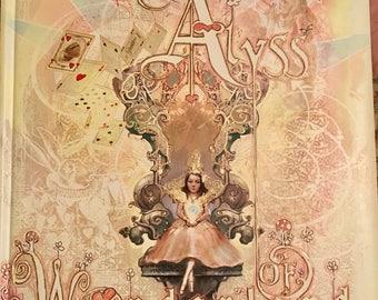 PRINCESS Alyss of Wonderland Scrapbook, Alice & Wonderland Memory Book, Imagination Reading, Unique Book