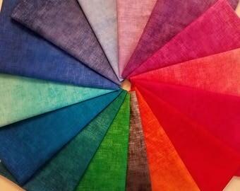 1/2 yard Fabric Bundle of Timeless Treasure Studio Ombre - 15 different fabrics