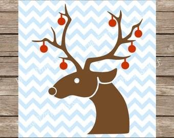 Christmas svg, Reindeer svg, Ornaments svg, Hunting svg, Antlers svg, Christmas, Christmas Ornaments svg, Ornaments, Rudolph svg, svg files