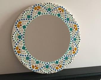 Mandala Pattern Mosaic Mirror