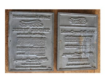 Ford Motor Company Two Printing Plates for Newspaper Advertising Antique