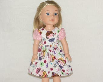 Handmade Magical Fairies Dress to fit 14.5 inches Dolls such as wellie wishers doll clothes AG