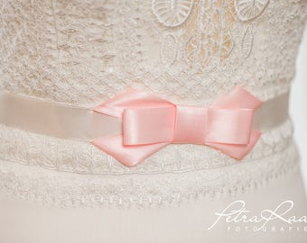 NG1 Bridal belt, belt with bow, Umstandmode, Brautkleidaccessoires, belt, color of choice