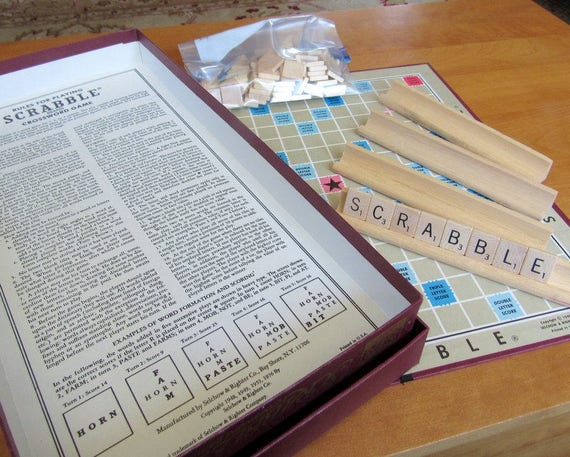 Original 1948 Complete Scrabble Game