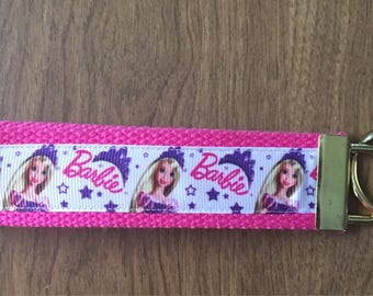 Barbie Key Chain Zipper Pull Wristlet