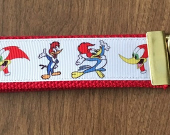 Woody Woodpecker Key Chain Zipper Pull Wristlet