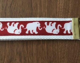 Elephant Key Chain Wristlet Zipper Pull