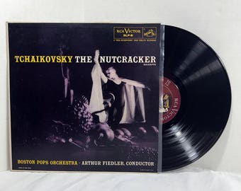 Tchaikovsky The Nutcracker, Op. 71 (Excerpts) 1956 vinyl record by Boston Pops Orchestra, Arthur Fiedler conductor VG+/EX