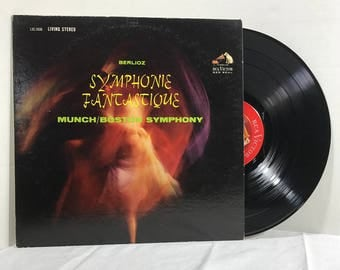 Symphonie Fantastique vinyl record 1962 Classical VG+ Berlioz, Munch, Boston Symphony