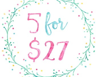 5 Templates for 27 Dollars