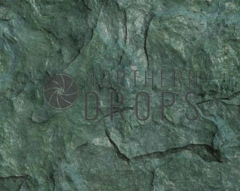 Product Photography Backdrop - Stone - Emerald Green - printed stone product background - Green stone photo backdrop 2size