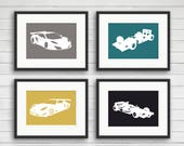 Race Car Wall Art - Cars Boy Nursery - Transportation Theme - Race Car Prints - Boys Room Decor - Kids Room Decor - Fast Car Print - Raceway