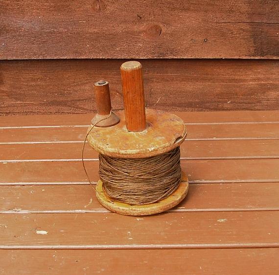 Antique fishing reel hand line atlantic cod reel wooden reel for Hand line fishing