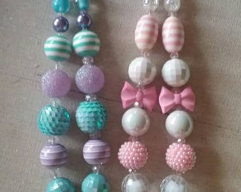BIRTHDAY Photo prop age 1 or 2 Bubble Gum Bead Necklace *you pick*