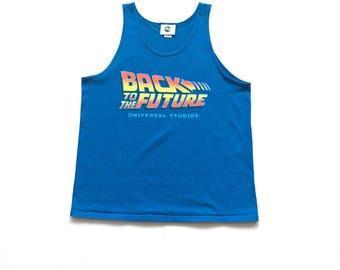 90s Back To The Future marty mcfly Universal Studio tank top size large made in USA