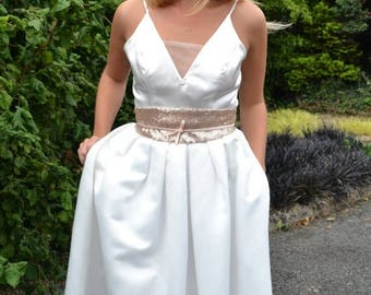Summer Wedding Sale Satin full circle skirt for weddings & parties - Ready to Wear 'April' pleated skirt with waistband casual bridal separa