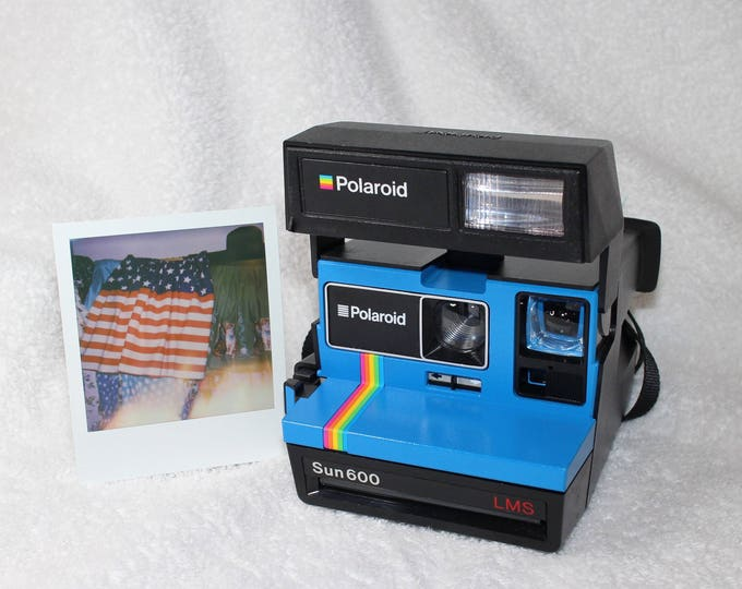 Blue Rainbow Polaroid Sun 600 - Works Great, Tested and Cleaned