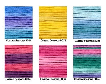 "Embroidery Floss Cosmo ""Seasons"" Variegated Thread *Hand Embroidery *Fiber Arts *Needlework *Cross Stitch *Quilting"