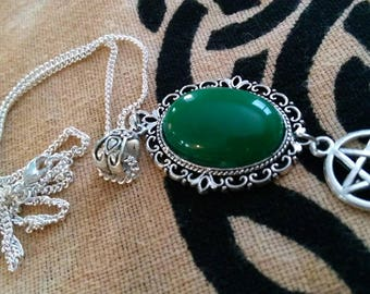 Jade Witches Amulet
