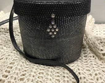 Vintage Ted Lapidus reptile crossbody purse