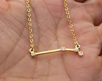 SALE 30% OFF - Aries Necklace - Zodiac Necklace - Zodiac Signs - Aries Necklace - Constellation Necklace with Stone- Birthday Gifts