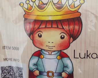 Prince Luka mounted rubber stamp