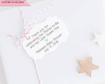 Sweet pea baby shower tags (30) - Baby shower tags - Baby gift shower tag - Baby shower favor tags - Baby shower thank you tags