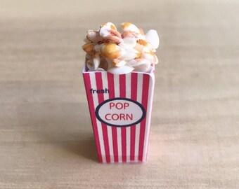Miniature Popcorn Box,Miniature Popcorn,Miniature Paper Box,Miniature food,Dollhouse Popcorn,Dollhouse food,Popcorn
