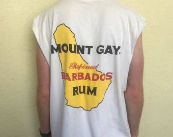 SALE! Vintage 90s Mount Gay Sleeveless Tee