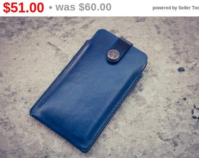 Indigo-Dyed Leather Goods/ Iphone 6 Case/Leather IPhone 6 Case Sleeve /Leather iPhone 6 case/iPhone 6 cover/iPhone 6 cases