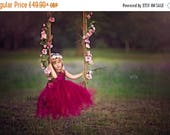SALE Burgundy Flower girl dress Christmas tutu dress bordo tutu dress bridesmaid dress princess dress crochet top tulle dress crimson