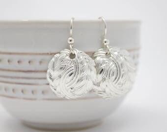 """Fine Silver Earrings """"Vines"""""""