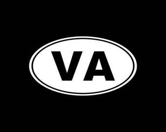 Virginia Decal,VA State Decal,Virginia State Decals Stickers Vinyl Die-Cut Car Decals,Home State Decals