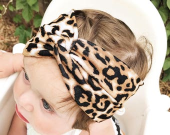 ADULT Wild Cheetah turban headband