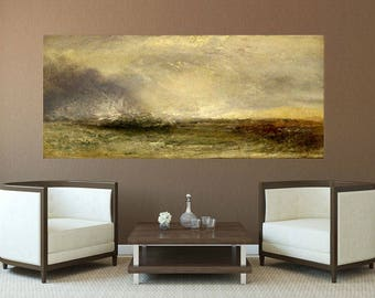 Stormy Sea Extra large Reproduction Oil Painting, Artwork, Wall Art, Large Wall Decor, Home Decor, Office Decor