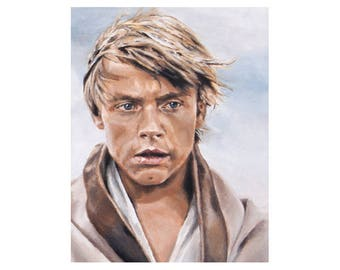 Nothing You Could Have Done - Luke Skywalker A New Hope Tatooine Star Wars Fine Art Print (Unframed)