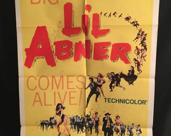 Original 1959 Lil Abner One Sheet Movie Poster, Julie Newmar, Peter Palmer, Comedy, Musical