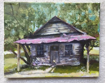 Old Store - 8 x 10 acrylic on canvas