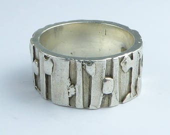 Silver Band Ring - Fully hallmarked