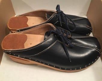 Bastad-Original navy blue clogs size 36 (as is)